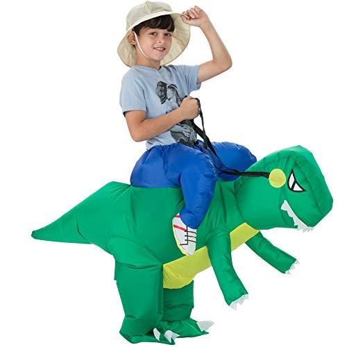 Lispeed Aufblasbares Dinosaurier Kostüm für Erwachsene/Kinder Halloween Party Cosplay Campus Eltern-Kind-Aktivitäten