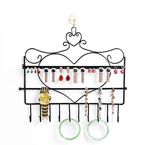 Sensecrol Wandhalterung Halskette Organizer Ohrringe Wand hängen Haken Halskette Rahmen Armband Rack Gitter Shop ausstellungsstand (Halskette Hanger Wandhalterung)