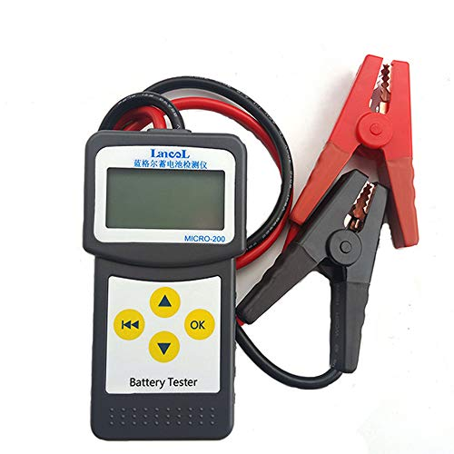 Docooler 12V Batterietester Kfz-Autobatterie-Tester laden Tester mehrsprachig 30-200Ah mit USB zum Drucken