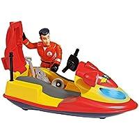 Fireman Sam - Juno, moto d'acqua con la figura e gli accessori, rosso e giallo (Simba 9.251.662)