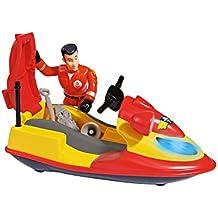 Sam El Bombero - Juno, moto de agua con figura y accesorios, color rojo y amarillo (Simba 9251662)