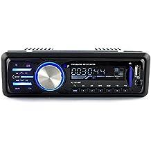 Radio de Coche, Rixow Reproductor Estéreo Bluetooth de Coche, Apoyo de Reproductor MP3, Llamadas Manos Libres, Función de Radio, y de Archivo. Enchufe de ISO.