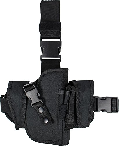 normani Pistolenholster - Beinholster mit zwei zusätzlichen Zubehör-Taschen