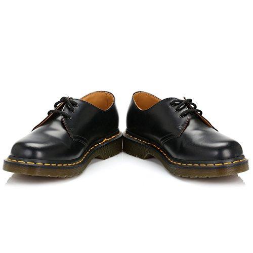 Hommes Dr. Martens Originals 1461 3-Eye Smooth Cuir Gibson Chaussures - Noir Noir