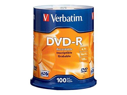 Verbatim  dvd-r 4.7gb 16x branded 100pk spindle