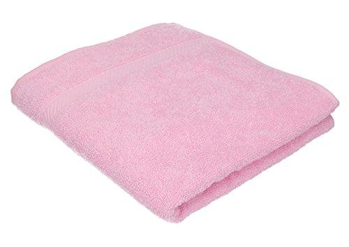 BETZ Serviette de Bain Taille 70 x 140 cm 100% Coton Palermo Rose Turquoise Vert Abricot ou Gris Anthracite Couleur rosé