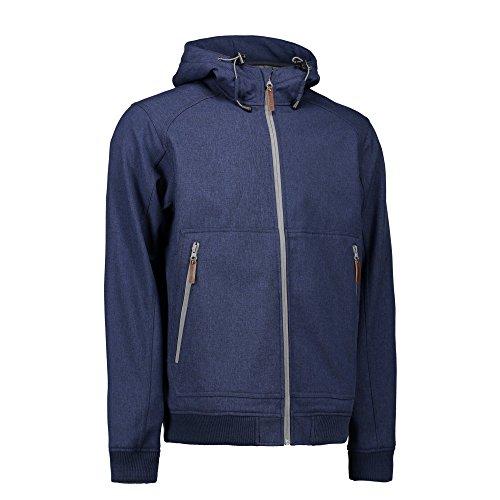 ID Herren Softshell Jacke mit Kapuze Grau Meliert