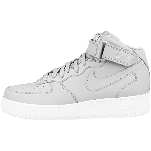 brand new fa5f9 a91ac Nike Men s Air Force 1 Mid  07 Hi-Top Trainers, Grey (Wolf Grey Wolf Grey  White 046), 10 UK 45 EU - Buy Online in Oman.   Shoes Products in Oman -  See ...
