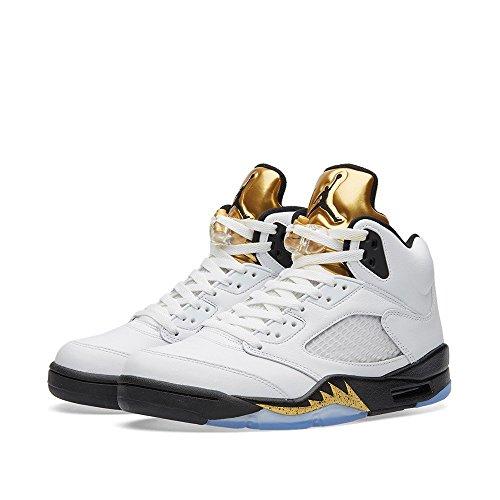 Nike Air Jordan 5 Retro BG, Espadrilles de Basket-Ball Garçon