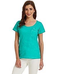 Flying Machine Women's Solid T-Shirt