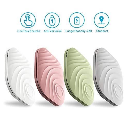 Evershop 4 in 1 Schlüsselfinder Anti-Lost Tracker, Bluetooth Tracker GPS Locator Wallet Telefonschlüssel Alarm Reminder fürTelefon Haustiere Schlüsselbund Brieftasche Gepäck