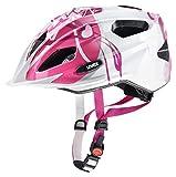 Uvex Kinder Quatro Junior Fahrradhelm, pink-white, 50-55 cm