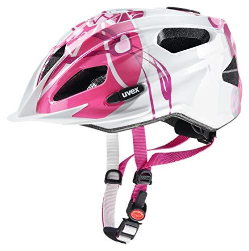 Uvex Kinder Quatro Junior Fahrradhelm pink-white 50-55 cm
