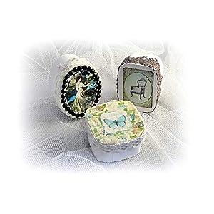 Spandosen Romantic 3 Stück Schachtel Pillendosen handmade