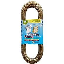 Cuerda de Tendedero en acero STENDI BENE20 metros, jabón cuerda de repuesto de acero, ropa de estiramiento de alambre, alambre de acero para colgar ropa, art. 356 Parodi &Parodi