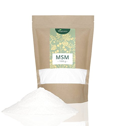 MSM (methylsulfonylmethane) | 1kg Pure Powder | 99.9% Highly Dosed Sulphur | Vegan & Vegetarian by Vegavero Test