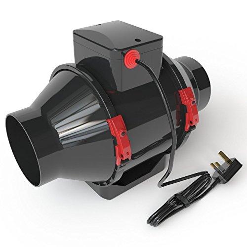 """Fantronix Hydroponic Kits Ventilation de tente avec ventilateur, filtre à carbone et tuyau 10,12,15cm 4"""""""