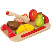 Eichhorn 100003721 - Schneidebretter, Set mit Früchten, 12-teilig - 26x16,5 cm - Schneideobst aus Holz mit Klett-Verbindung