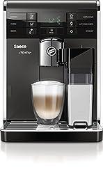 Saeco HD8869/11 Moltio Premium Kaffeevollautomat, austauschbarer Bohnenbehälter, integrierte Milchkaraffe, schwarz