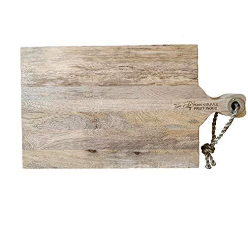 Schneidebrett Brett Holz Mangoholz Jausenbrett Käsebrett Servierbrett Küchenbrett zum Hängen L 48 cm