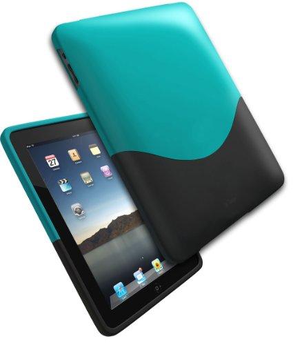 IFROGZ iPad Luxe Case Gruen - Schwarz 2-Stueck-Huelle aus Polykarbonat samtenes Gefuehl Ifrogz Luxe Case