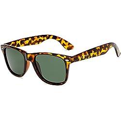 Long Keeper Gafas de sol Polarizadas Gafas de sol Cuadradas Vendimia Clásico para Mujeres Hombres (Leopardo)