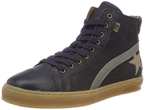 Bisgaard Unisex-Kinder 61907218 Hohe Sneaker, Blau (607 Blue), 38 EU
