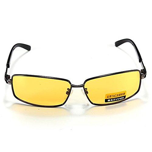 Inovey polarizzati uv400 occhiali visione notturna guida ombra occhialini