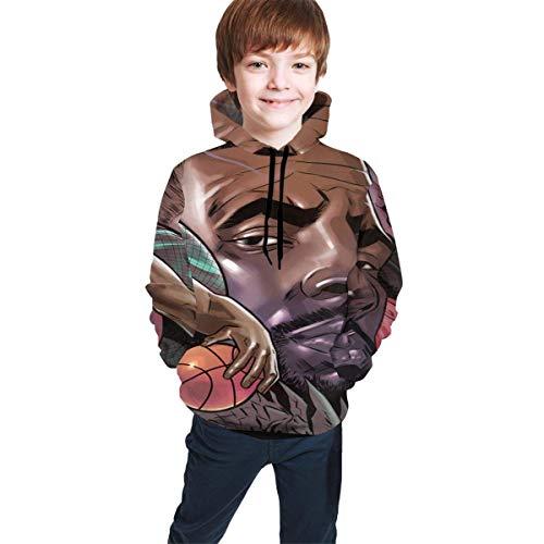 Hidend Kinder Kapuzenpullover Sweatshirt, Basketball Fashion Teen Hooded Sweater Black