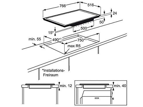 AEG HKM85411X-B Induktion Glaskeramik Kochfeld autark Auflage Kochstelle Touch - 2