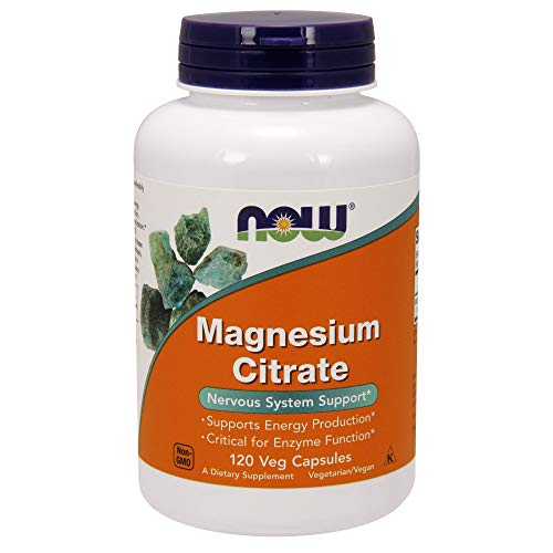 Now Foods, Magnesiumcitrat, 120 Vcaps -