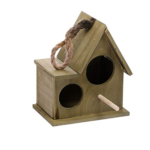 Papagei Vogelhaus Garten Holz Vogelkäfig Hause Balkon Vogel Dekoration Vogel Vogel Papagei Käfig Wandbehang Anhänger Vogelhaus Vogelkäfig käfig (Color : Bronze, Größe : L) -