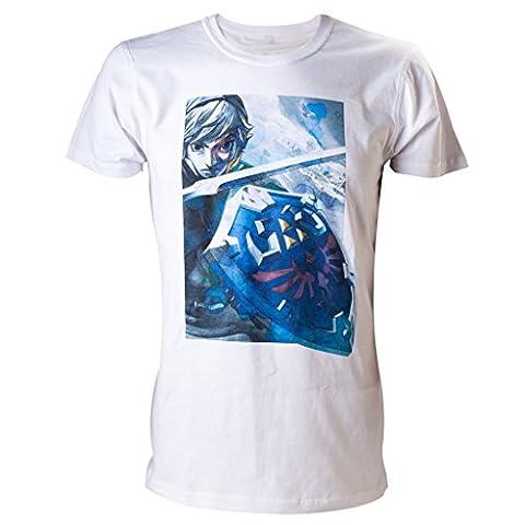 Zelda T-Shirt -M- Link, weiss