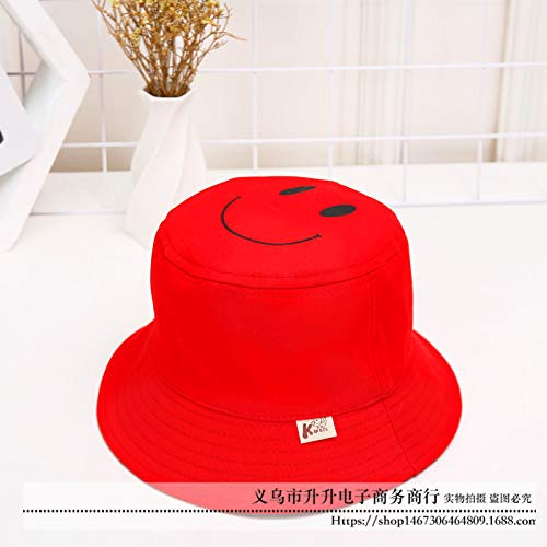 mlpnko Flat Top Kinderbassin Cap Smiley Baby Hut Reisen wild doppelseitig kann rot 50CM - Smiley Baby Kostüm