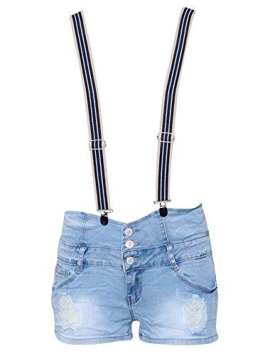 London Couture -  Pantaloncini  - Donna Blue Large