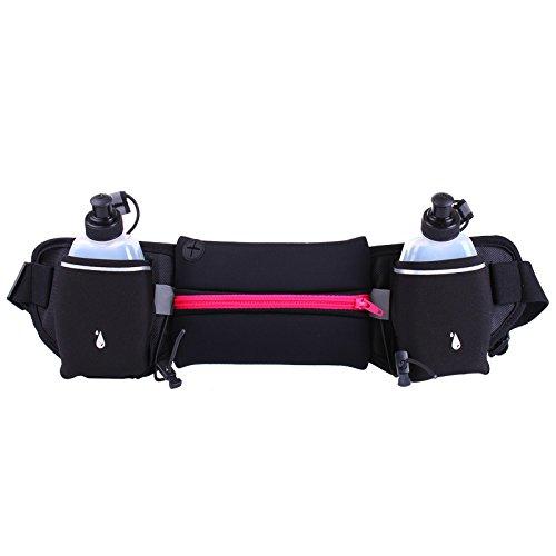 Multi - Funktions - Stealth - Gürtel, Wasserdichte Tasche, Hüfte, Portemonnaie, Handy - Tasche Reisen rose red (mit wasserflasche)