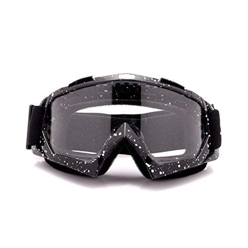 HS-GOGGLES Occhiali da Sole PE Full Frame montati sulla Testa UV400 a Prova di Sabbia Occhiali da Sci Ciclismo Occhiali da Sole Sportivi Unisex,Nero