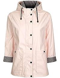Topshop Ex Hooded Waterproof Raincoat Mac In Pink Size 8-16