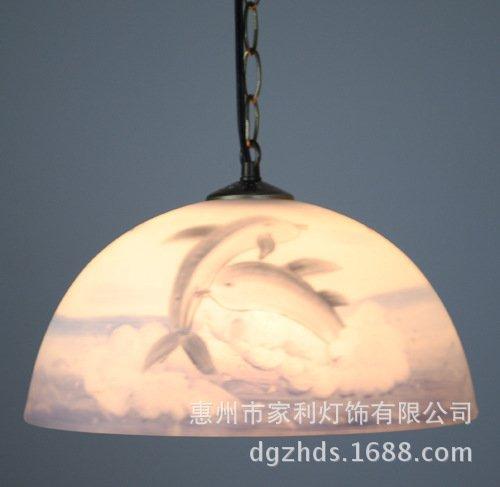 LINA-Dipinte a mano e dipinti ad olio di luce lampadario da cucina lampadari balcone studio dei delfini