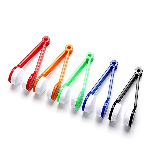 3 PCS Mini Brillenreiniger Pinsel Sonnenbrillen Brille Reinigungswerkzeug Beweglich, zufällige Farbe