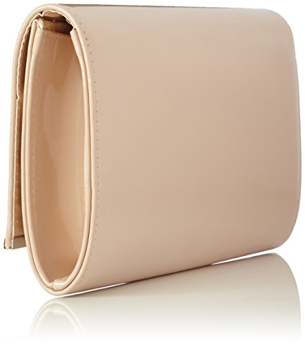 fi9® BNWT RETRO NUDE BEIGE APPRICOT PATENT LEATHER Bridal Wedding Evening Handbag Party Purse Clutch Shoulder Hand Bag