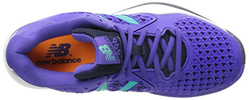New Balance Women's 996v2 Tennis Shoe, Purple, 10 D US Purple Turquoise