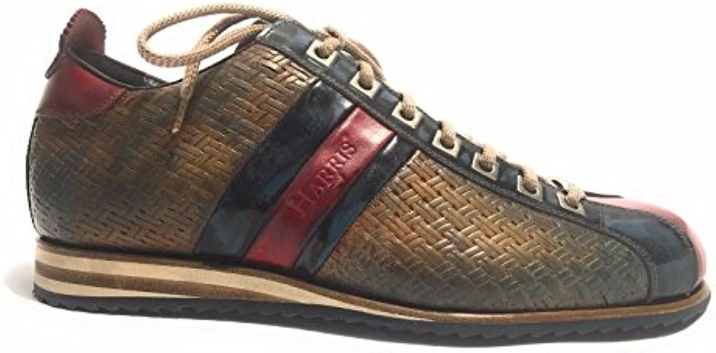 Harris Zapatillas de Piel Para Hombre Crosta Pane/Blu Shade/Rosso 40 -