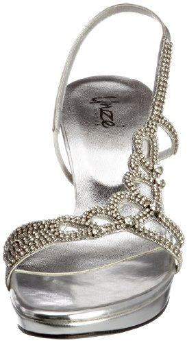 Unze Evening Sandals, Sandales femme Argent (L18451W)