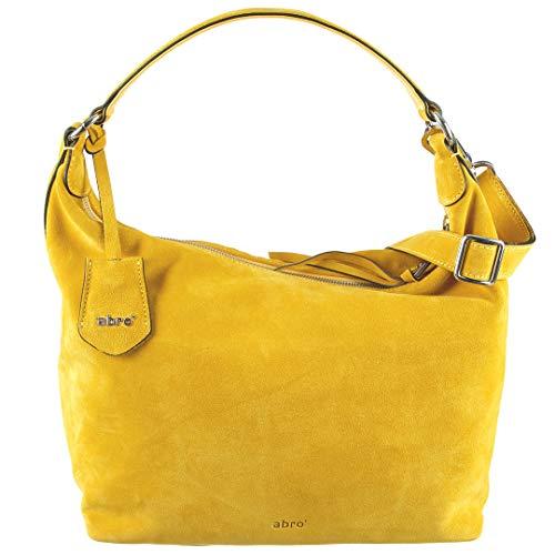 abro Beuteltasche Veloursleder in Yellow ab-28336-33-80