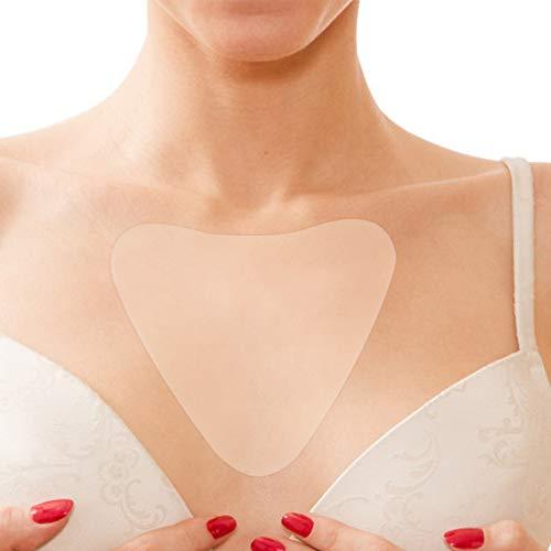 Silikon Pad für Dekolleté Anti-Falten, Transparente selbstklebend Chest Pad, Brust Sorgfalt zu beseitigen und zu verhindern Brust Falten, Sorgfalt anhebende Waschbare wiederverwendbar(Dreieckform) -