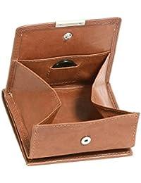 Wiener-Schachtel mit großer Kleingeldschütte LEAS, in Echt-Leder, cognac - LEAS Special Edition