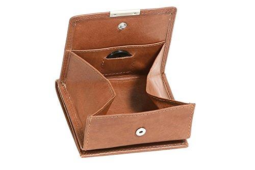 LEAS Wiener-Schachtel mit großer Kleingeldschütte, Echt-Leder, cognac Special Edition
