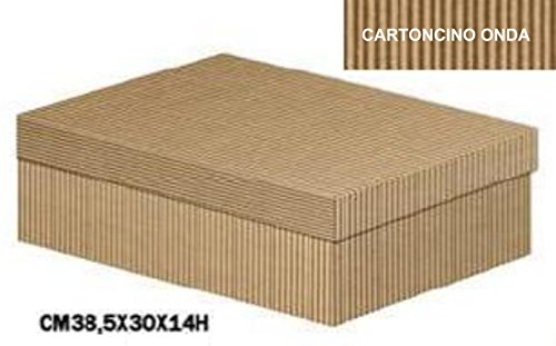 Behälter für Dekoband in Karton Onda Avana, Boden und Deckel, in Packung mit 10Stück