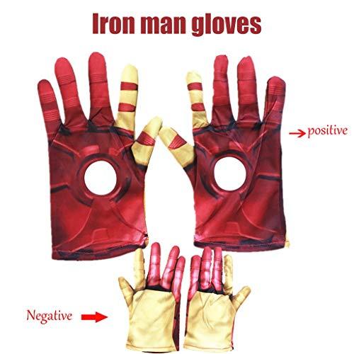 YUNMO Cosplay Iron Man Handschuhe Kriegshandschuhe Leichte Handschuhe Halloween Requisiten
